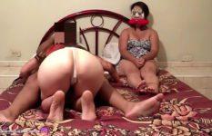 Sexo com amante e esposa a casada assiste o marido comer outra